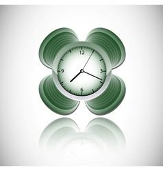 green clock vector image