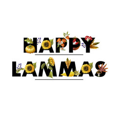 greeting banner of lammas with autumn leaves vector image
