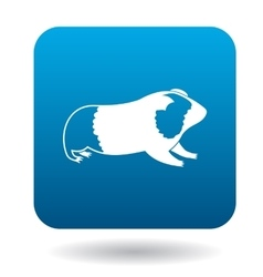 Guinea pig icon simple style vector