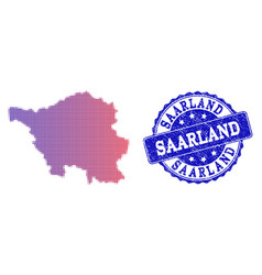 Halftone gradient map of saarland state and vector