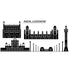 India lucknow architecture urban skyline with vector