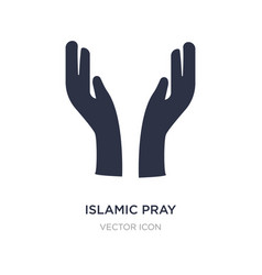 Islamic pray icon on white background simple vector