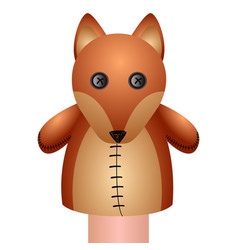Isolated fox puppet vector