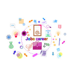 Job career growth concept professional success vector