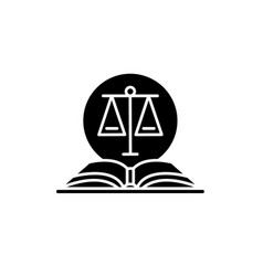 legal code black icon sign on isolated vector image