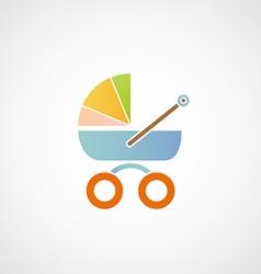 Logo baby carriage vector