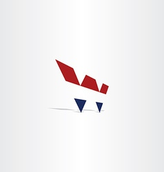 Logo blue red letter w symbol icon vector
