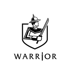 Lord of thai ancient warrior logo with sword vector