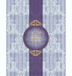 Luxury baroque paper decor ornament pattern vector