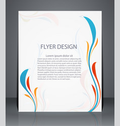 Magazine flyer brochure or cover layout design vector