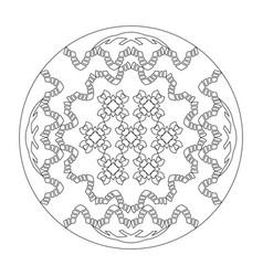 Mandala coloring page abstract art therapy vector