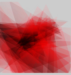 modern geometric red transparent background vector image