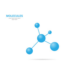 molecule with shadow on a white background vector image