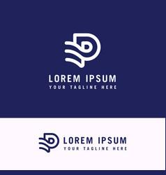P abstract logo monogram template concept vector