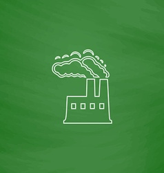 power plant computer symbol vector image