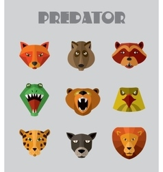 Predator animals icons format vector image