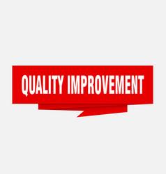 Quality improvement vector