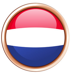 Round icon for netherlands vector