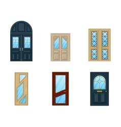 Set of interior apartment doors design vector