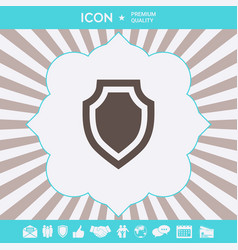 shield - protection icon graphic elements for vector image