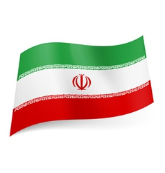 State flag of Iran vector image