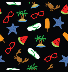 summer pattern background seamless vector image