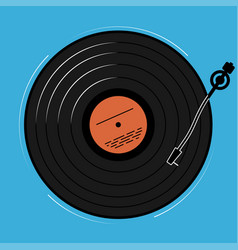 The vinyl player shown schematically and simply a vector