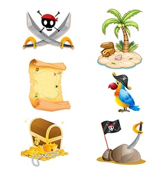 Things related to a pirate vector image
