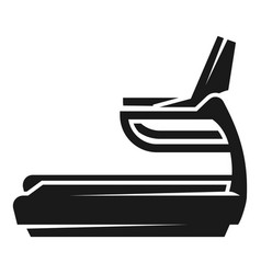 treadmill icon simple style vector image