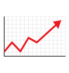 trend up graph icon in trendy isolated on white vector image