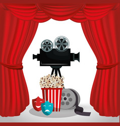 Video camera cinema icons vector
