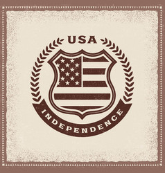 vintage independence label vector image