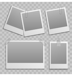 Vintage photo frame different size template vector