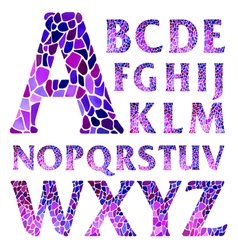 Watercolor mosaic typographic letters vector image