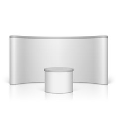white blank trade show booth vector image