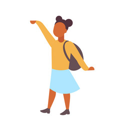 woman student standing with backpack african vector image