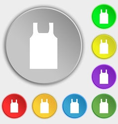 Working vest icon sign Symbol on eight flat vector