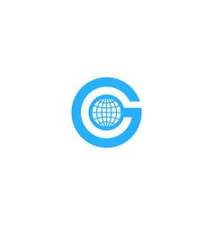 World letter g logo icon design vector