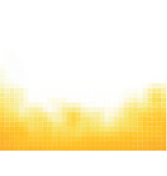 yellow squares mosaic background vector image