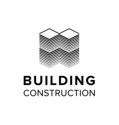 company building logo template vector image