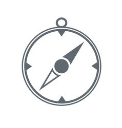 Compass icon isolated black vector image vector image
