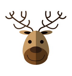 face of happy deer icon image vector image vector image