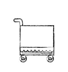 food service trolley vector image