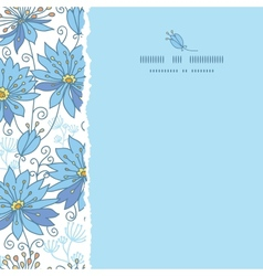 Heavenly flowers square torn seamless pattern vector image vector image