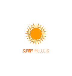 logo with sunlight vector image