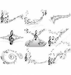 musical note backgrounds vector image vector image