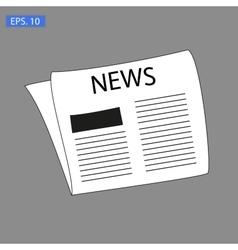 News icon on grey vector image