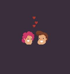 pixel art couple vector image