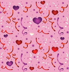 seamless love pattern with confetti - vector image vector image