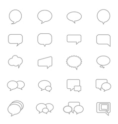 Speech Bubble Icons Line Set vector image vector image